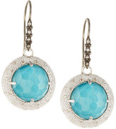Armenta New World Diamond & Turquoise Doublet Round Drop Earrings