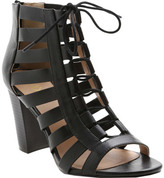 XOXO Women's Beckie Open-Toe Caged Ankle Boot