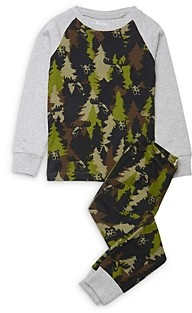 Hatley Boys' Forest Camo Cotton Pajamas - Little Kid, Big Kid