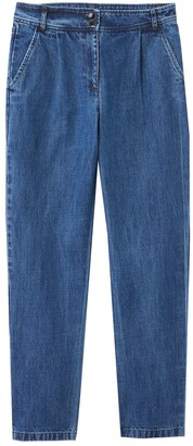 Vanessa Seward X La Redoute Collections Straight Jeans with Pleat Detail, Length 26""