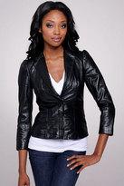 Croc Leather Blazer