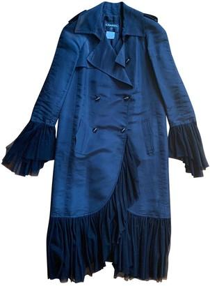 Chanel Black Silk Trench Coat for Women
