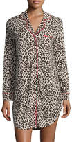 Cosabella Women's Print Holiday Long Sleeve Nightshirt