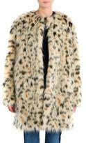 MSGM Leopard Faux Fur Long Coat
