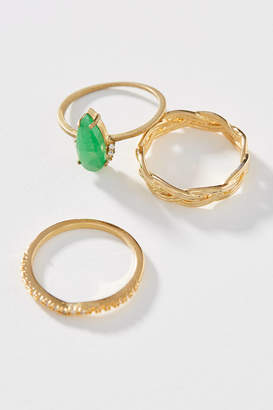 Serefina Emerald Stacking Ring Set