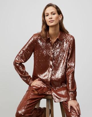 Lafayette 148 New York Spectrum Sequins Ruxton Shirt