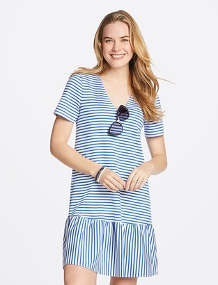 Draper James Sailor Stripe Flounce Shift Dress