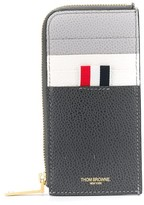 Thom Browne paneled zip-around wallet