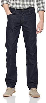 Wrangler Men's Regular Fit STR Jeans, Rinsewash, Black, 31W/30L