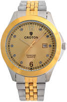 Croton Mens Two Tone Bracelet Watch-Cn307562ttcd