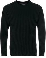 Moschino ribbed crew neck sweater - men - Silk/Cashmere/Virgin Wool - 50