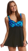 Longitude Rhapsody Draped Swimdress 8150573