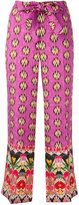 Etro multi-prints belted trousers
