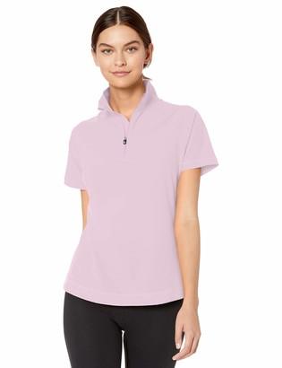 Cutter & Buck Women's Short Sleeve Response Half Zip Mock Neck Top