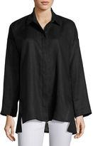 Go Silk Linen Oversized Shirt, Petite
