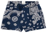 Ralph Lauren Girls' Bandanna Print Shorts - Sizes 2-6X