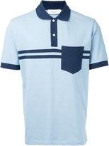 Cerruti double stripe polo shirt - men - Cotton/Spandex/Elastane - M