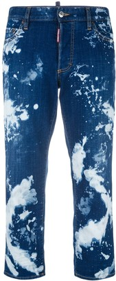 DSQUARED2 Tomboy bleached straight jeans