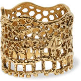 Aurelie Bidermann Lace Gold-plated Ring - 52