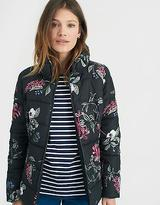 Joules Florian Women's Padded Jacket with Zip Fastening in Black Hedgerow