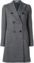 Lardini peaked lapel coat - women - Nylon/Wool/Alpaca - 42