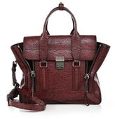 3.1 Phillip Lim Pashli Medium Two-Tone Shark-Embossed Leather Satchel