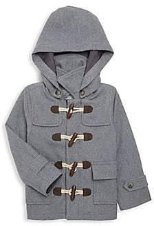 Janie and Jack Little Boy & Boy's Wool-Blend Toggle Hooded Coat