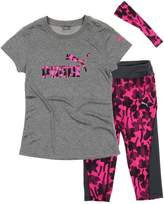 Puma Girls T-shirt, Capri Pant and Headband Matching Set