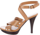 Tod's Crossover Leather Sandals
