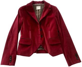 Celine Red Velvet Skirt for Women