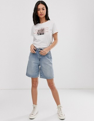 Daisy Street oversized graphic t-shirt-White