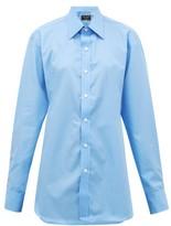 Emma Willis Riviera Cotton-poplin Shirt - Womens - Light Blue