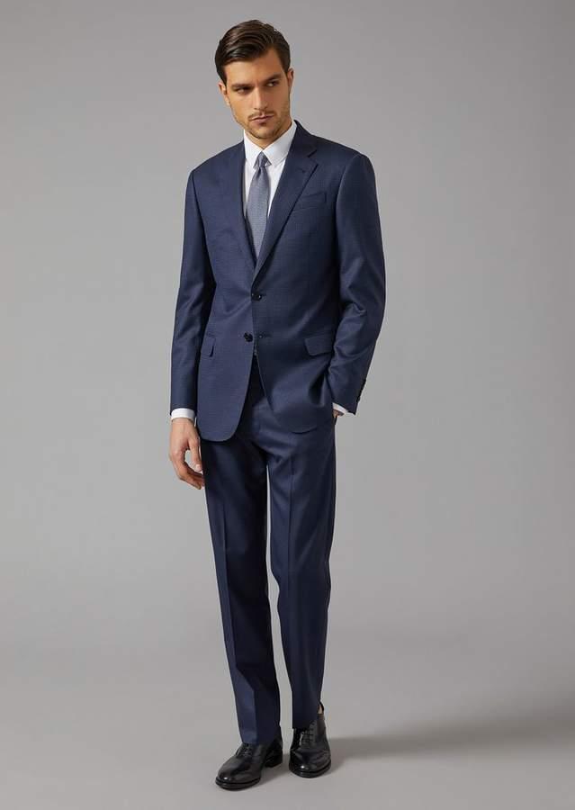 Giorgio Armani Soft Suit In Virgil Wool