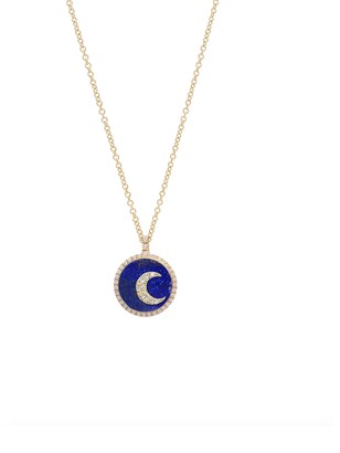 Noush 14ct Yellow Gold Moon Necklace