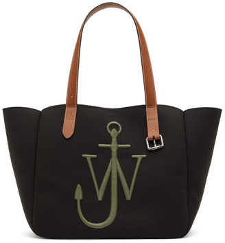 J.W.Anderson Black and Green Recycled Canvas Belt Tote