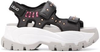 Liu Jo Studded Platform Sole Sandals