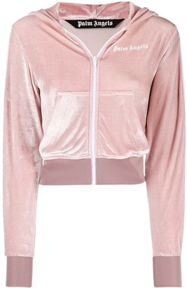 Palm Angels Cropped Track Jacket