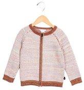 Little Marc Jacobs Girls' Knit Zip-Up Sweater
