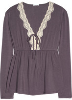 Eberjey Lady Godiva stretch-modal pajama top
