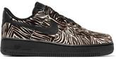 Nike Air Force 1 Calf Hair And Leather Sneakers - Zebra print