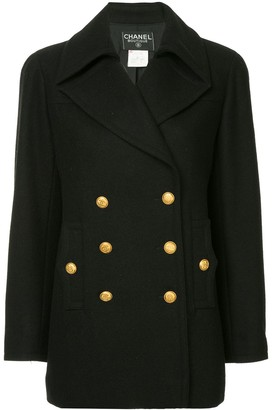 Chanel Pre Owned Long Sleeve Coat Jacket