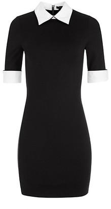 Alice + Olivia Delora Contrast Mini Dress