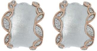 Effy Sterling Silver Crystal Trim Hoop Earrings