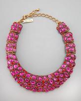 Oscar de la Renta Cabochon Collar Necklace, Pink