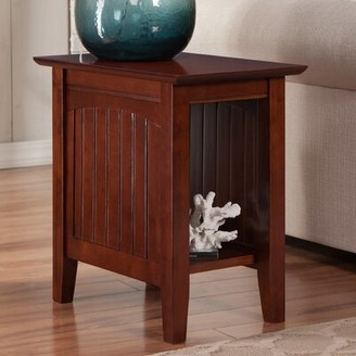 Charlton Home Tolleson Solid Wood End Table with Storage Color: Walnut