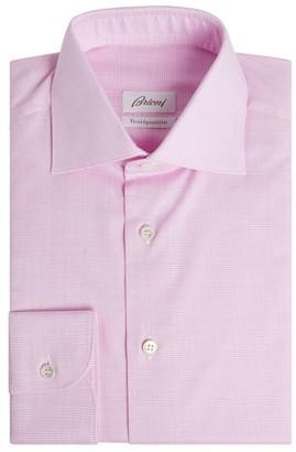 Brioni Check Print Formal Shirt
