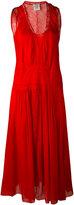 Forte Forte lace detail midi dress - women - Silk/Cotton - 1