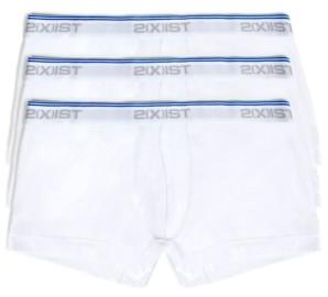 2xist Men's Cotton Stretch 3 Pack No-Show Trunk