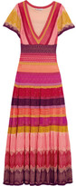 Temperley London Sunlight Striped Crochet-knit Midi Dress - Pink