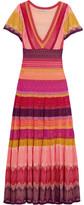 Temperley London Sunlight Striped Crochet-knit Midi Dress - Pink
